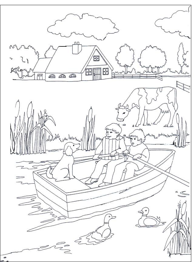 Paesaggi xv disegni da colorare per adulti e ragazzi for Disegni marini da colorare